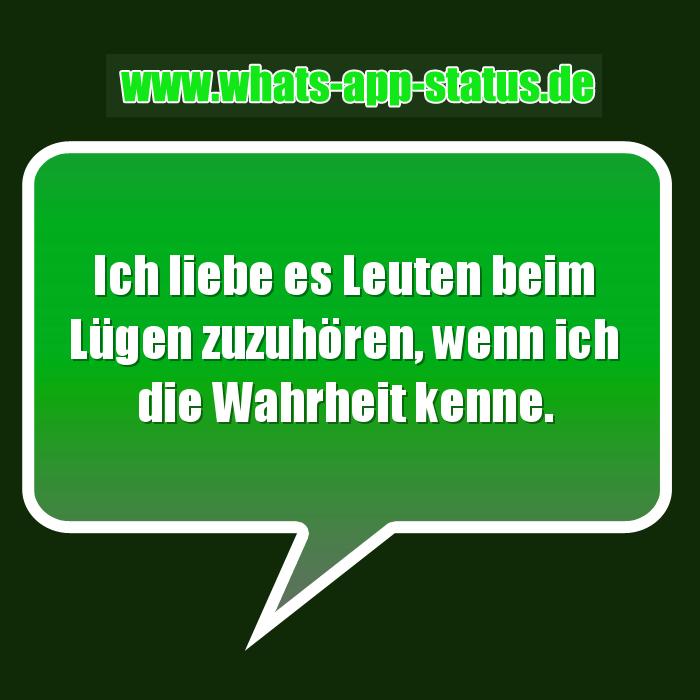 Lügen Whatsapp Status Sprüche
